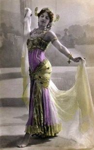 Postcard of Mata Hari in Paris 1906