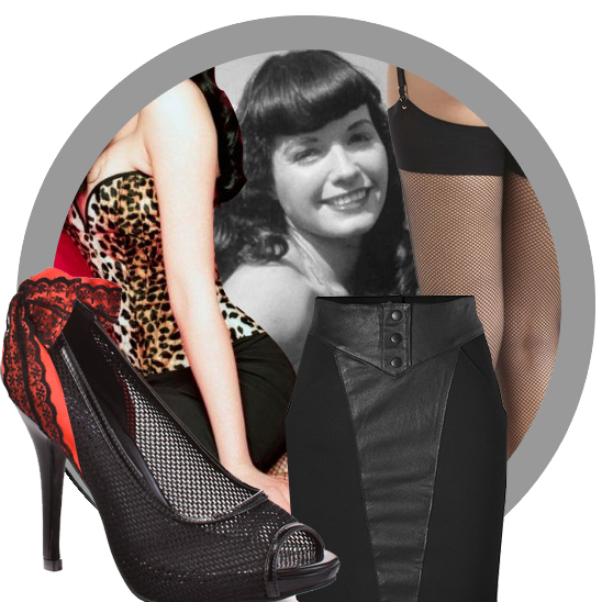 Bettie Page look book