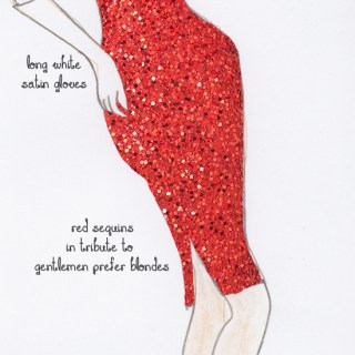 Fashion design: A red sequinned dress for Marilyn