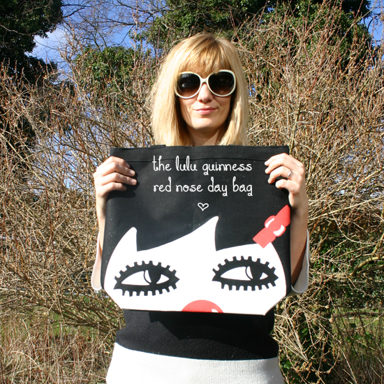 Red Nose Day Lulu Guinness doll bag