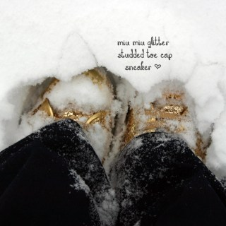My vintage: My birthday in the snow!