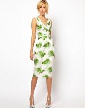 Pencil Dress in Floral Jacquard by ASOS