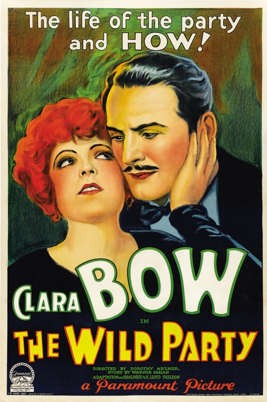 1920s movie poster: Clara Bow in The Wild Party – We Heart ...