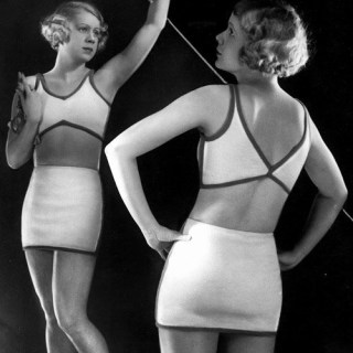 Stylish 1930s swimwear