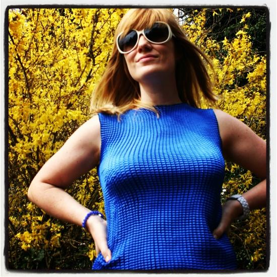 Vintage outfit: Margaret Thatcher blue