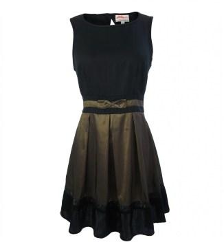 Annie Greenabelle Olive Taffeta Dress