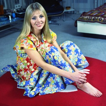 Britt Ekland looking gloriously colourful, 1970s