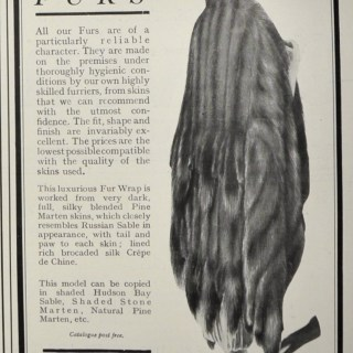 1920s fur coat adverts, which make me a bit uncomfortable!