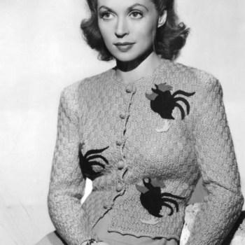 Lilli Palmer in a novelty jumper 1950s