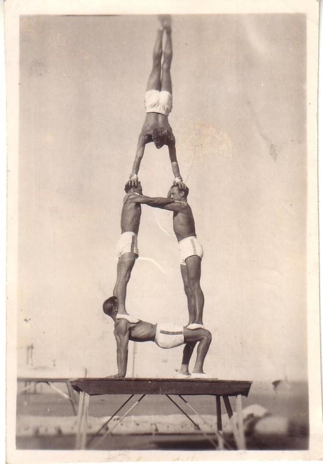 Vintage circus acrobats 1930s