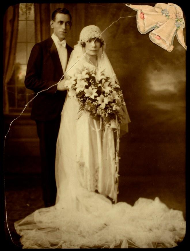1920s wedding photo