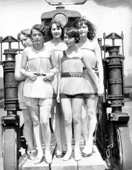 1920s wooden bathing suits