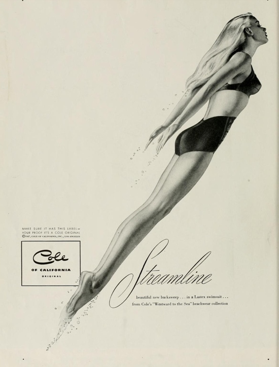 Vintage swimwear: Stunning 1940s Cole of California advert