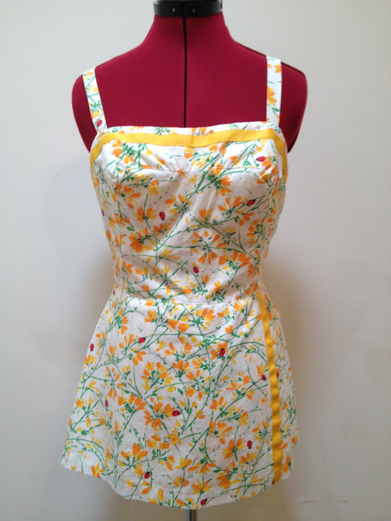 Vintage 1950s skirted playsuit