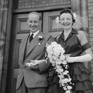 Vintage 1950s weddings: Miss Muriel Prince and Mr L Worsley