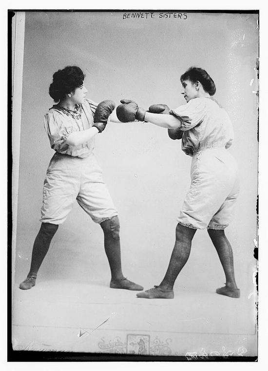 Vintage women's boxing