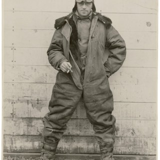 Colour or black and white? 1920s pilot in winter flying gear