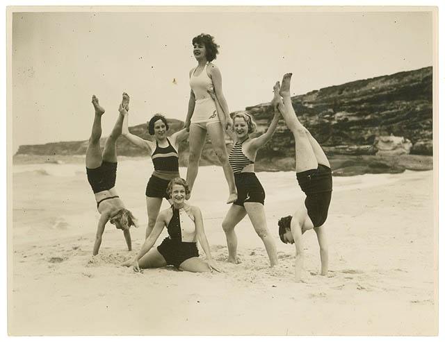 1930s Chorus Girls on the Beach