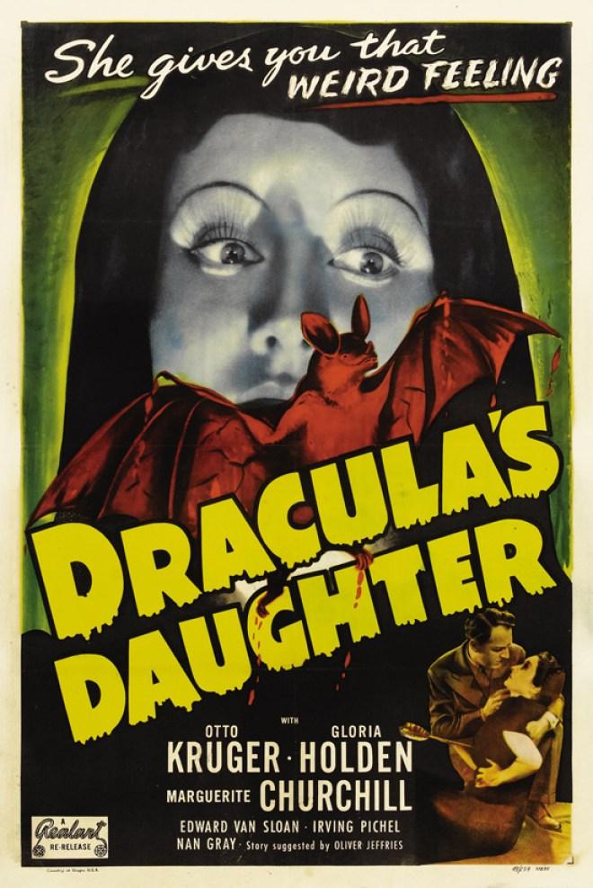 Vintage movie poster; Draculas Daughter