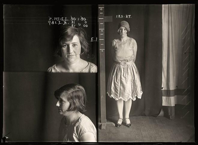 1920s mug shot photo women