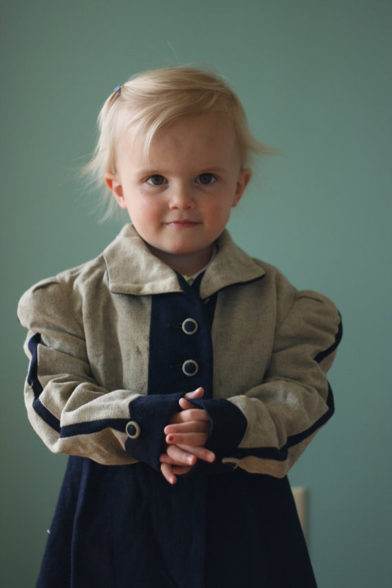 Vintage 1940's Little Girls Coat Made by National Coat and Suit Industry Recovery Board