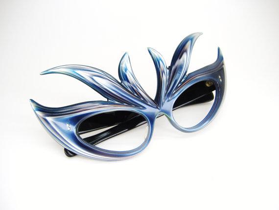 Vintage Blue France Cat Eye Eyeglasses