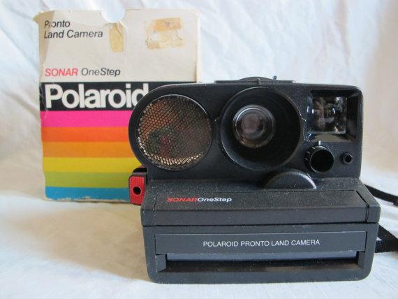 Vintage Polaroid land camera SONAR one step Instant Camera