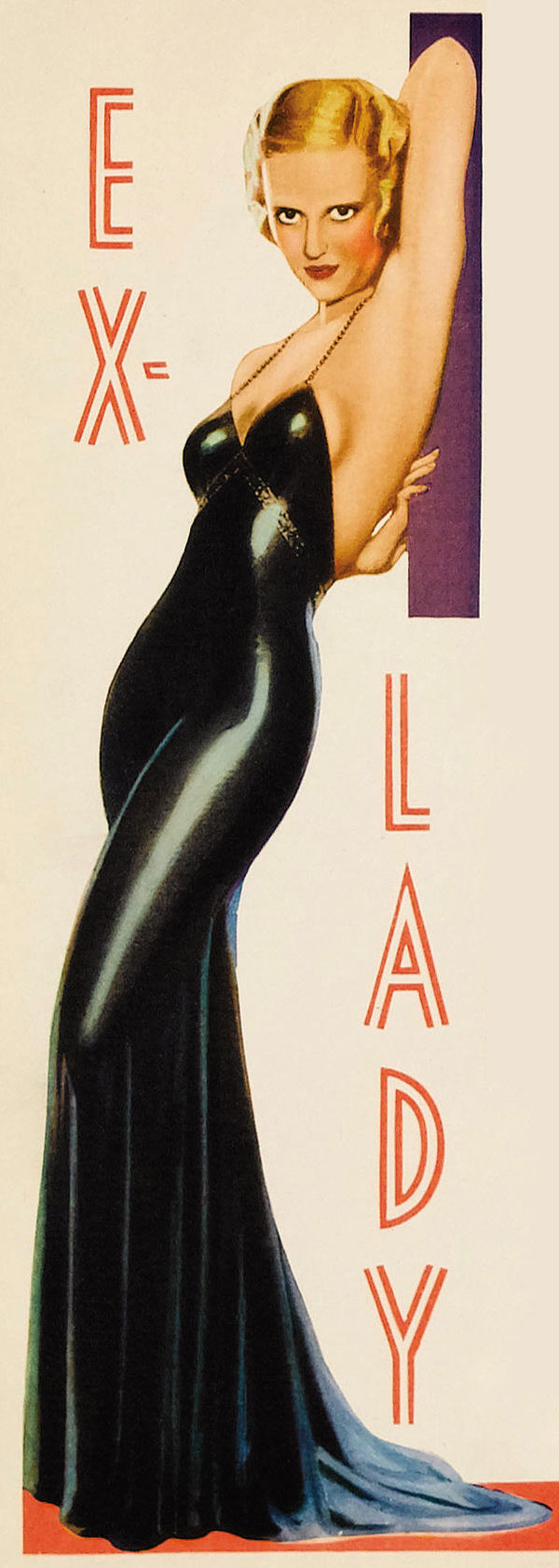 Bette Davis in Ex-Lady, 1933 poster card
