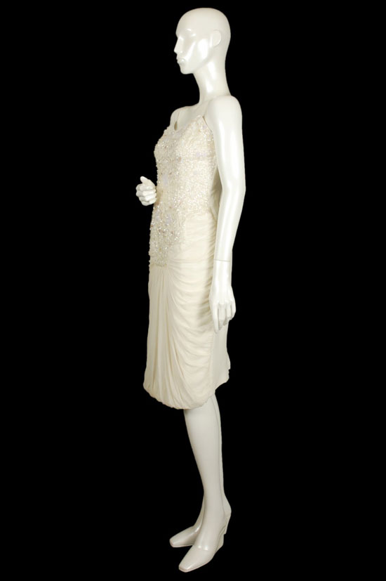 1950s Sequin Wiggle Wedding Dress