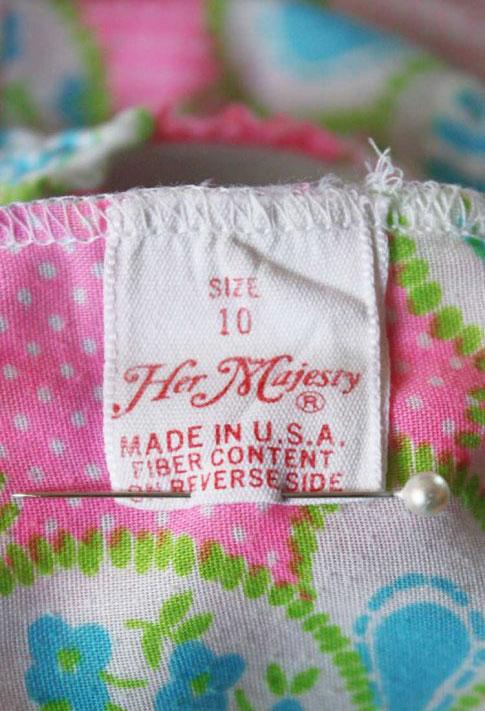 Girls C.1960s Hot Pink Patchwork Print Bubble Panties