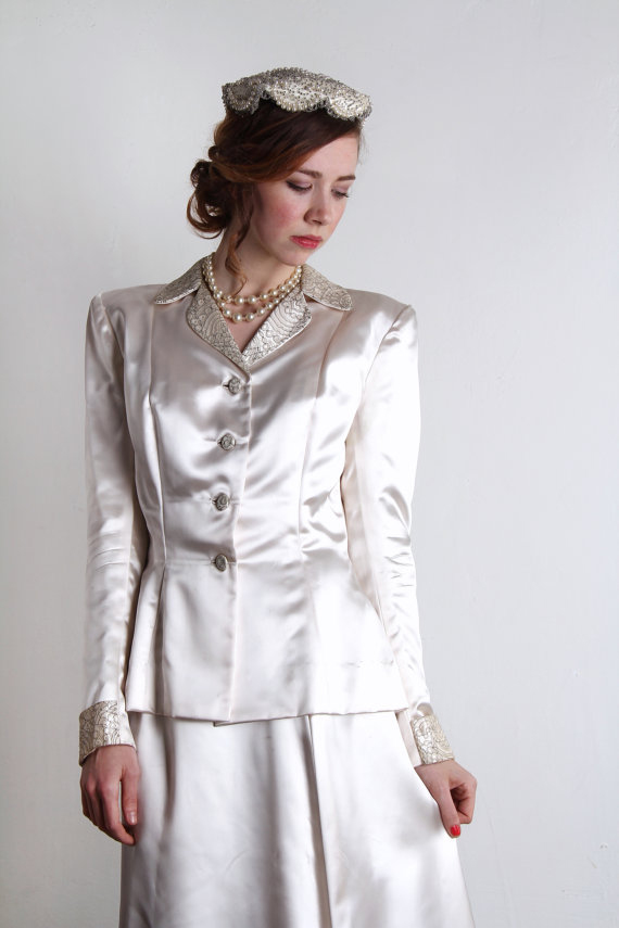 1940s Wedding Suit