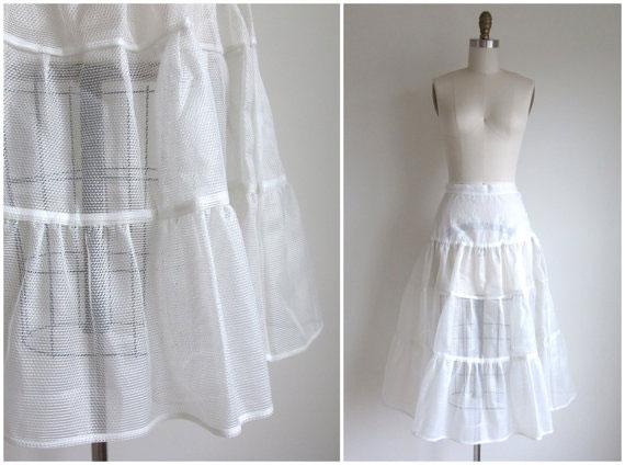 Vintage 1950s White Crinoline