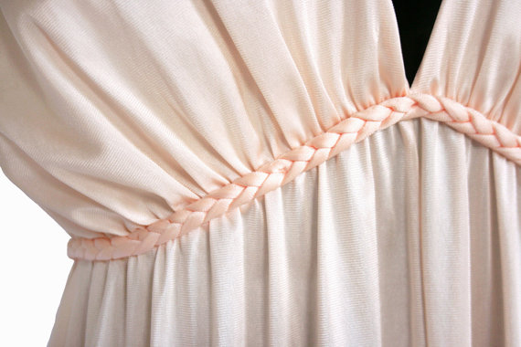 1970s floor length grecian nightgown