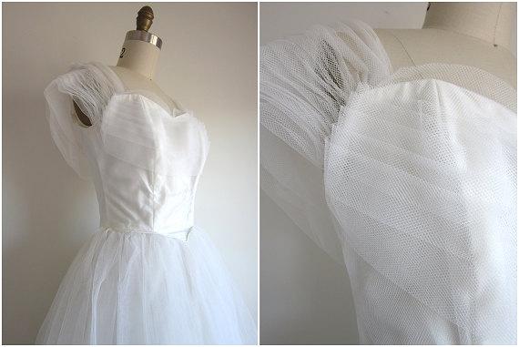 Vintage 1950s Tulle Dress