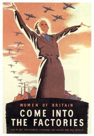 WW2 1940s Wartime poster: Come Into The Factories