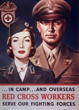 WW2 1940s Wartime poster: Red Cross