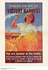 WW2 1940s Wartime poster: Land girls