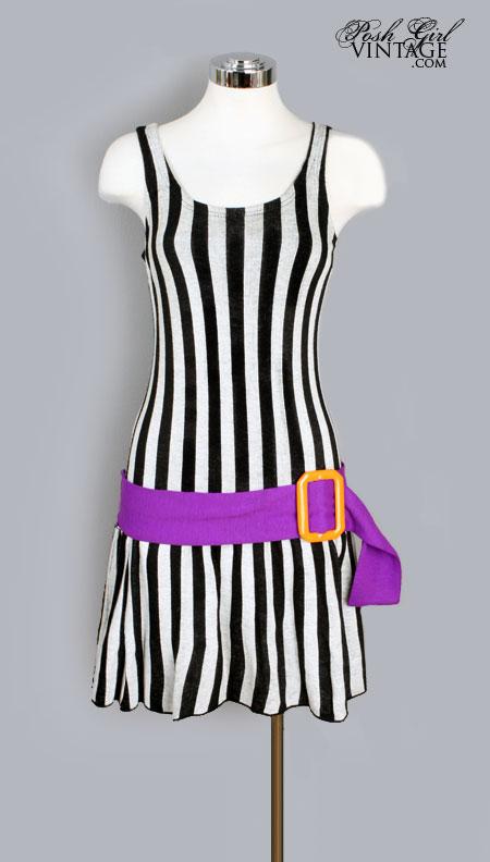 1960's MOD Designer Knit Mini Dress