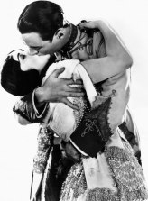 Publicity portrait of Pola Negri with Rod La Rocque from 1924 film Forbidden Paradise