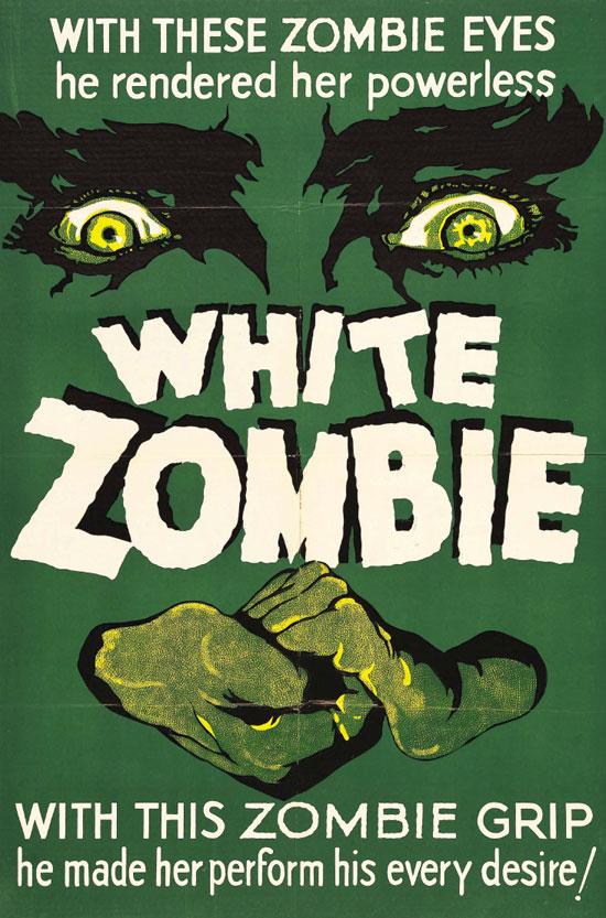 White Zombie Horror Movie Poster