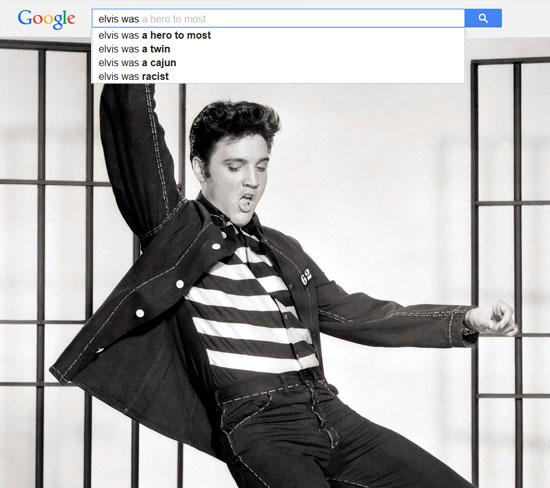 Google results for Elvis Presley