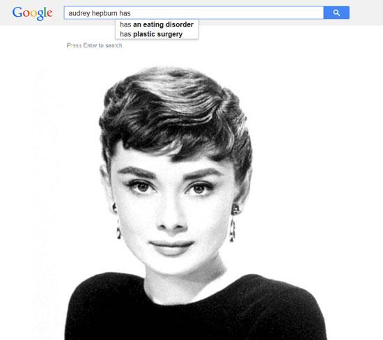 Google results for Audrey Hepburn