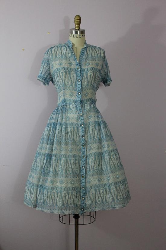 1950s Sheer Day Dress