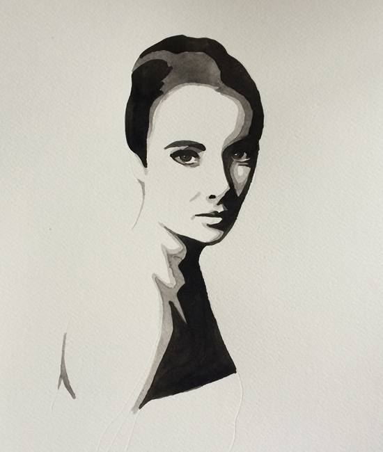 Painting of Elizabeth Taylor