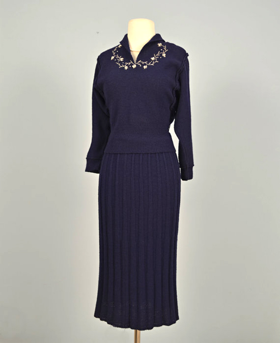 Vintage 1950s Dress Sweater Set