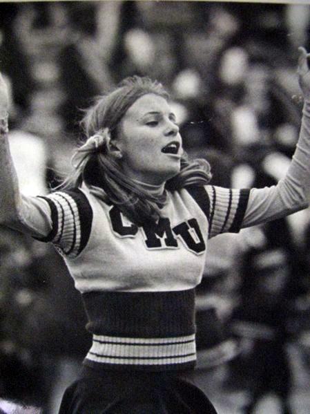 Vintage cheerleader photo