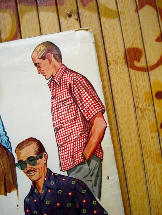 Vintage 1950s Mens Shirt Pattern Simplicity
