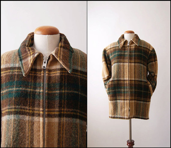 1960s Plaid Lined Vintage Woolrich Jacket