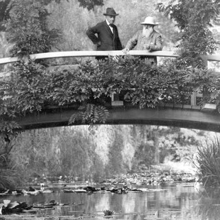 Photos of Monet with His Water Lilies