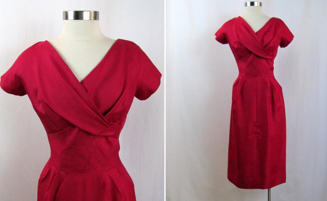 1960s | Jean of California Pink Silk Dress